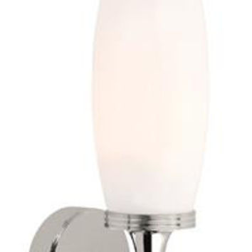 Elstead BATH/ELIOT1 PC Bathroom Eliot Single Wall Light Polished Nickel