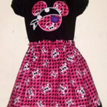 Disney Pirate Minnie Mouse Appliqued T Shirt Dress Available from 12m to 14/16