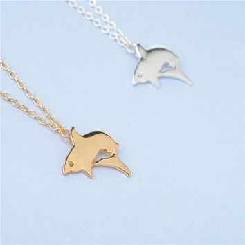 Fashion Whale chain Necklace Cute Whale Animal Necklace Jewelry Fish Pendant Necklace For Girls Women Jewelry