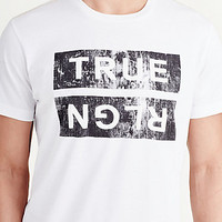 DISTRESSED GRAPHIC TRUE RLGN MENS TEE