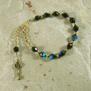 Hekate (Hecate) Prayer Bead Bracelet: Greek Goddess of Magic and Witchcraft
