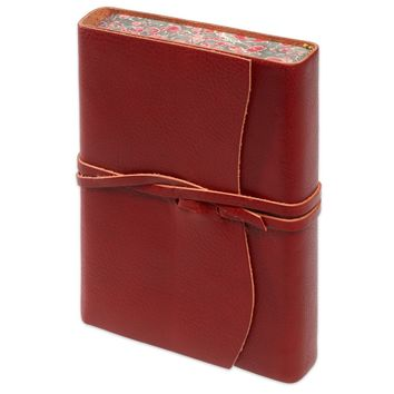 Roma Lussa Softbound Leather Journal Red