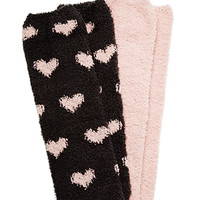 FOREVER 21 GIRLS Heart Print Socks Pack (Kids)