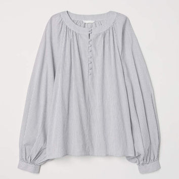H&M Balloon-sleeved Blouse $14.99