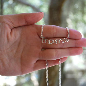 Mama Necklace - Mama Jewelry - Baby Shower Gift - Pregnancy Gift - We're Pregnant - Mother's Day Jewelry - Mom Jewelry - Mom Necklace - Mama