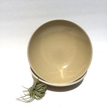 Pair of Massimo Vignelli Sasaki Colorstone Bowls in Wheat