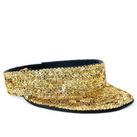 SEQUIN GOLD VISOR