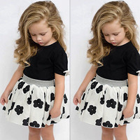 2016 Fashion Cute Baby Girls Kids Short Sleeve Summer T Shirt Skirts Outfits Set Dress 1 6Y Clothes Sets-in Clothing Sets from Mother & Kids on Aliexpress.com | Alibaba Group