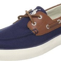 Polo Ralph Lauren Men's Rylander Boat Shoe, Navy/Tan/Cream, 9 M US