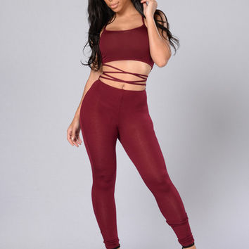 Crazy Sexy Cool Jumpsuit - Burgundy