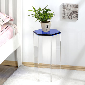 Pure Decor Acrylic Six Sided Accent Table | Overstock.com Shopping - The Best Deals on Coffee, Sofa & End Tables