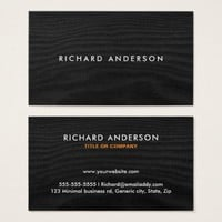 Black wood modern, minimal business cards | Happily Printed