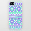 Tribal Art Creation pattern design Purple and Mint iPhone & iPod Case by tjc555 | Society6