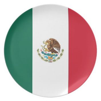 Mexican Flag Plate