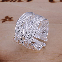 Big Weave Open Ring