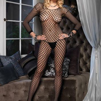 Ringo Hole Bodystocking (One Size,Black)