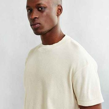 CPO Ribbed Mock-Neck Tee