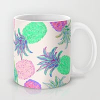 Pineapple Pandemonium Pink Punch Mug by Lisa Argyropoulos