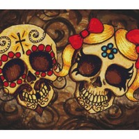 Day Of The Dead Couple By Shayne Cross Stitch Kit