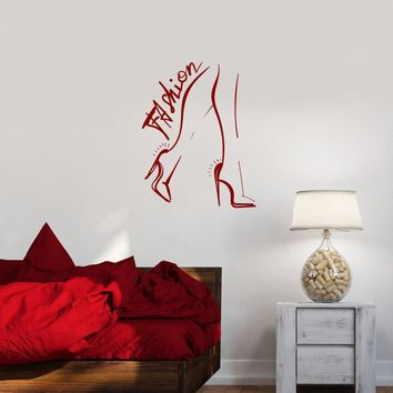 Wall Decal Fashion Style Beauty Salon Girl Woman Feet Legs Vinyl Sticker (ed1101)
