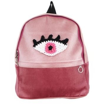 Pink Velvet Eye Backpack