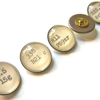 Library Dewey Decimal Buttons with Loop Shank for Book Lovers by The Written Nerd Add to Your Own Garments PAIR Lot of Two (2)