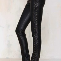 Nightwalker Tie Me Up Faux Leather Pants