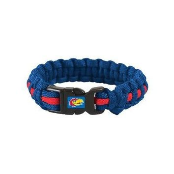 "Licensed Kansas Jayhawks Official NCAA Adult S/M 8"" Long Survival Bracelet KU by Wincraft KO_19_1"