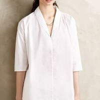 Oversize Poplin Pullover by HD in Paris White