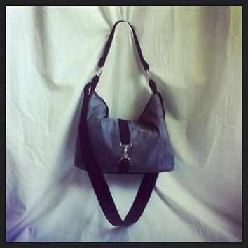Vegan Suede Shoulder bag with cross body strap