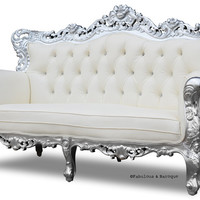 Belle de Fleur French Love Seat, fabulous and baroque, unique kids furniture, luxurious childrens furinture, unique furniture, designer, high end, ups