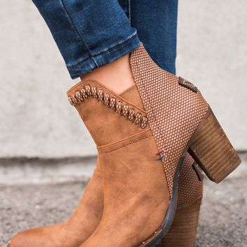 Weston Leather Booties (Cognac)