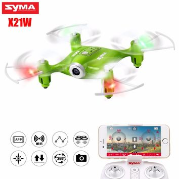 SYMA X21W Selfie Mini Drone with Wi-fi Camera hd 720P FPV Dron RC Quadcopter 2.4GHz 4CH RC Helicopter Drones For Children Gift