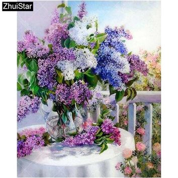 "Zhui Star Full Square Diamond 5D DIY Diamond Painting Custom ""floral"" 3D Embroidery Cross Stitch Mosaic Decor Gift BK"