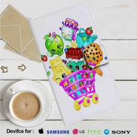 Shopkins Cartoons Leather Wallet iPhone 4/4S 5S/C 6/6S Plus 7| Samsung Galaxy S4 S5 S6 S7 NOTE 3 4 5| LG G2 G3 G4| MOTOROLA MOTO X X2 NEXUS 6| SONY Z3 Z4 MINI| HTC ONE X M7 M8 M9 CASE