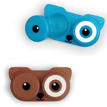 Kikkerlanddog Contact Lens Case, Assorted Colors