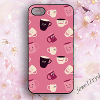 Coffee Cup Teacup iPhone 5s Case,iPhone 5/5C Case,iPhone 4/4s Case,Samsung Galaxy S3 S4 S5 Case,cute pink Coffee Cup charm,best friend gifts