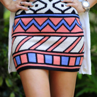 An Abstract Delight Skirt: Multi | Hope's