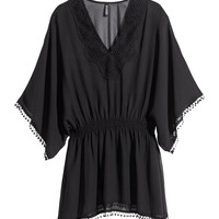 H&M - Tunic with Lace Details - Black - Ladies