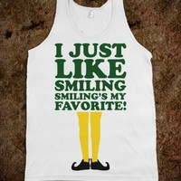 I Just Like Smiling (Elf Tank) - Fun Movie Shirts
