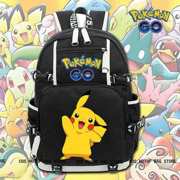 Hot Game  GO Pikachu Backpack Knapsack Packsack Travel Student School BagKawaii Pokemon go  AT_89_9