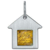 Yellow autumn maple leaves. Add you text and photo Pet ID Tag