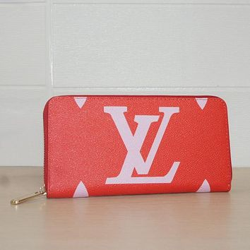 Louis Vuitton LV Women Fashion Zipper Purse Wallet