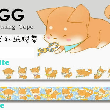 Shiba Inu - Taiwan Design masking tape (made in Japan ROUND TOP)