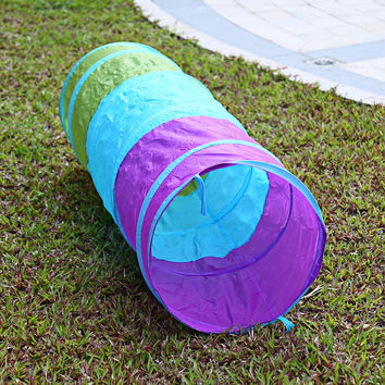 1.5M Colorful Folding Kids Tunnel Tube Play Tent Game Play Tent Foldable Indoor Outdoor Garden Playhouse Tent Children Xmas Gift
