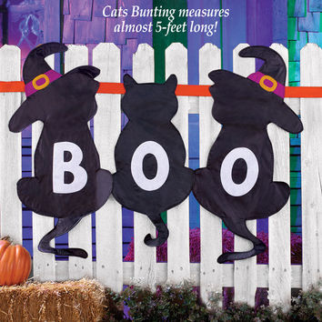 Black Cats Halloween Bunting