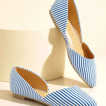 Step the Record Straight Vegan Flat in Stripes | Mod Retro Vintage Flats | ModCloth.com