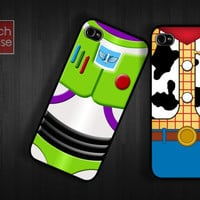 iPhone 4 Case iPhone 4s Case iPhone 5 Case idea case Best friend woody buzz lightyear team movie parody toy story