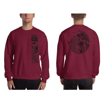 Heavy Blend Crewneck Sweatshirt - Mahina Tattoo Collection - sizes up to 5XL