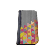 Wood graphic pattern iPhone 4 5C/6 leather wallet Samsung wallet case flip case